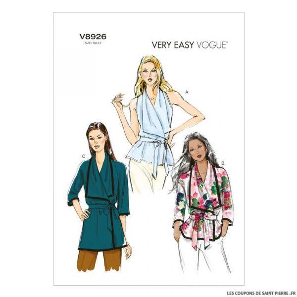 Patron Vogue V8926 : Haut portefeuille
