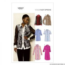 Patron Vogue V8927 : Chemise ample