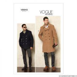 Patron Vogue V8940 : Homme - Veste et pantalon