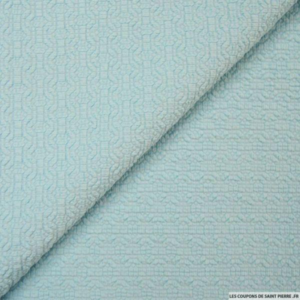 jersey gaufr graphique bleu coupons de saint pierre. Black Bedroom Furniture Sets. Home Design Ideas
