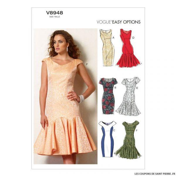 Patron Vogue V8948 : Robe doublée