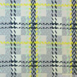 Jacquard polyester graphique vert et gris