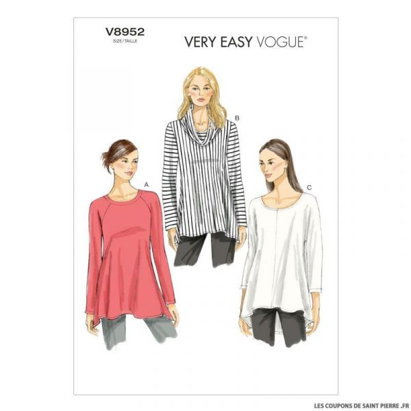 Patron Vogue V8952 : Tunique à encolure