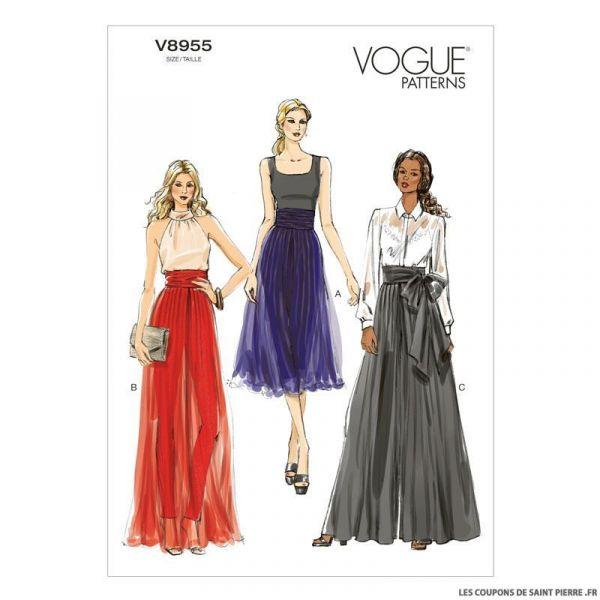 b0d592eed483dd Patron Vogue V8955 : Jupe-culotte