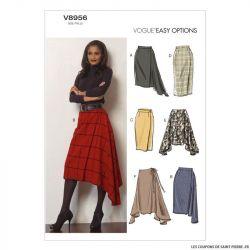 Patron Vogue V8956 : Jupe semi-ajustée