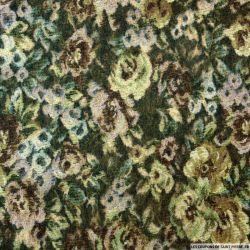 Jacquard de laine mélangée fleurs vintage