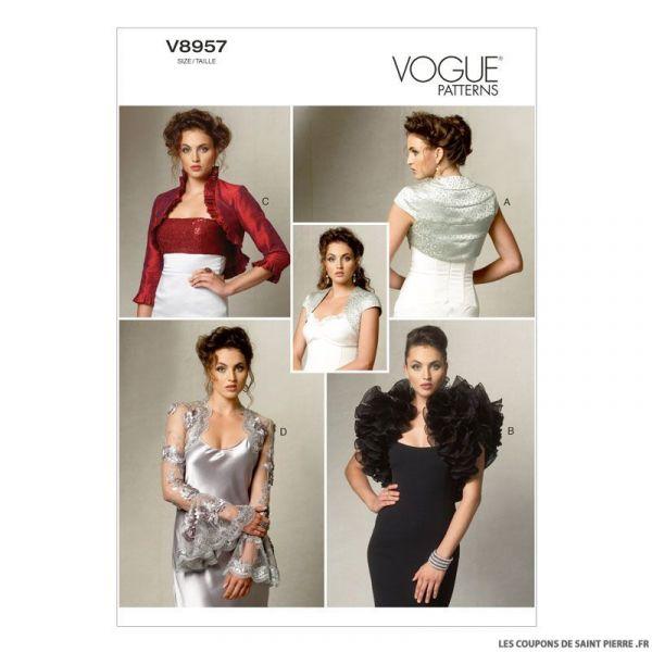 Patron Vogue V8957 : Veste moulante