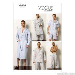 Patron Vogue V8964 : Homme - Veste, short, pantalon