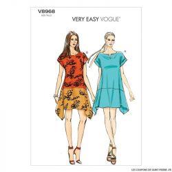 Patron Vogue V8968 : Robe ample