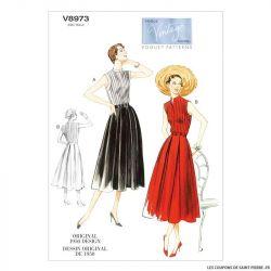 Patron Vogue V8970 : Robe à plis