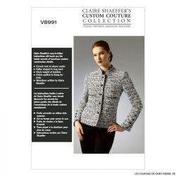 Patron Vogue V8991: Veste semi-ajustée