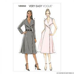 Patron Vogue V8992 : Robe portefeuille