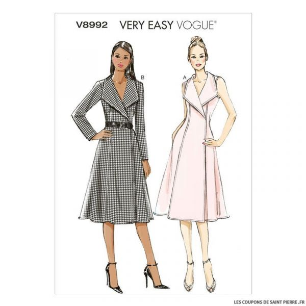 Patron Vogue V8992 : Robe portefeuille
