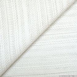 Tweed polyviscose ajouré blanc cassé