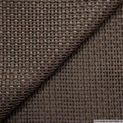Tweed de lin ajouré marron
