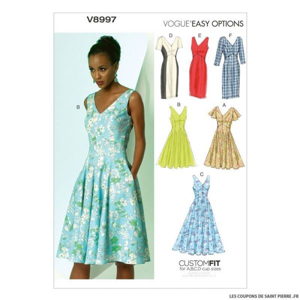 Patron Vogue V8997 : Robe Princesse
