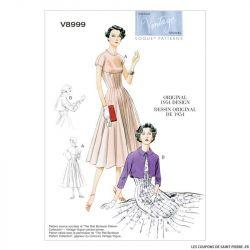 Patron Vogue V8999 : Robe à corsage