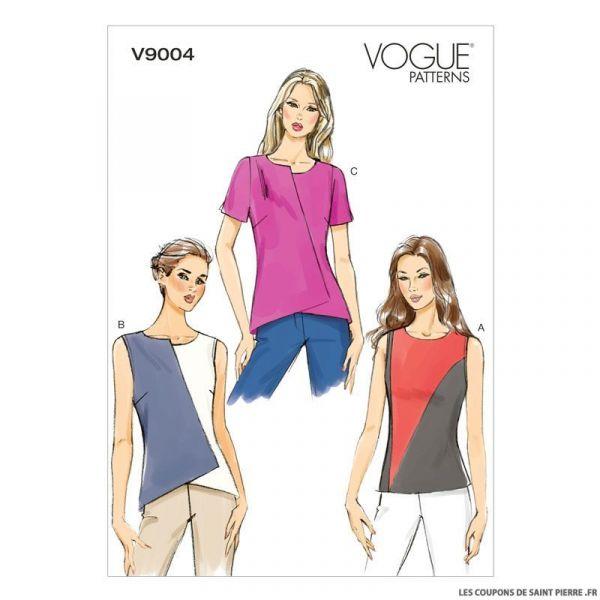 Patron Vogue V9004 : haut asymétrique