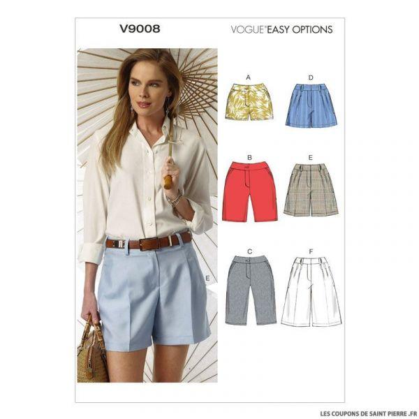 Patron Vogue V9008 : Short haute couture