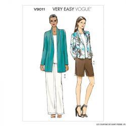 Patron Vogue V9011: Veste short et pantalon