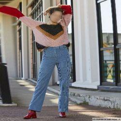 """Patron Modes & Travaux - Patron femme """"pantalon droit"""" otobre 2018 N°1415"""