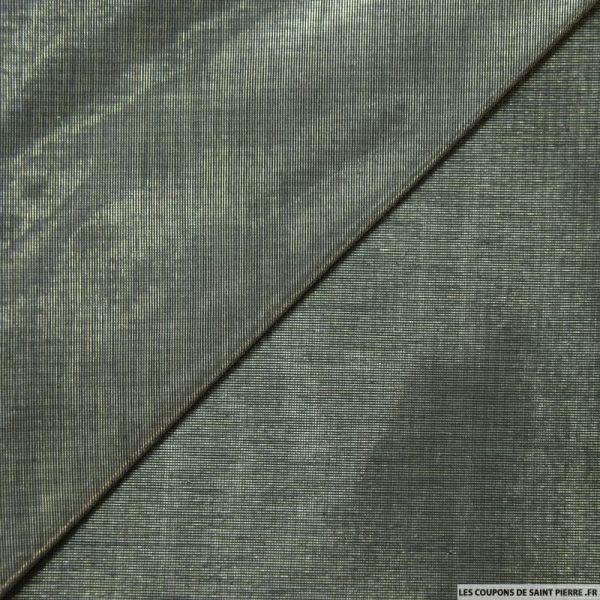 Voile polyester métal noir changeant