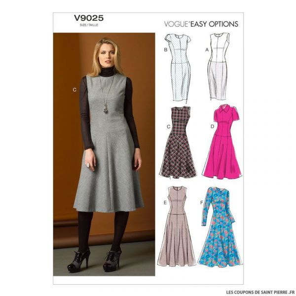 Patron Vogue V9025 : Robe