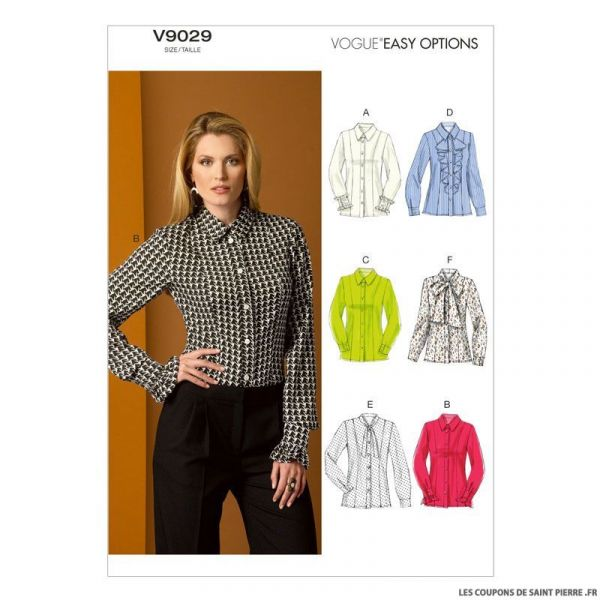 Patron Vogue V9029 : Chemisier