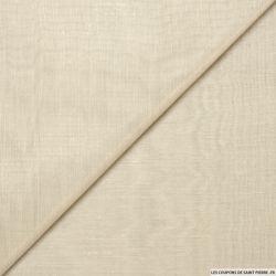 Voile polyester métal sable changeant