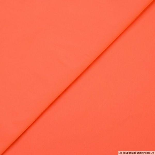 Taffetas polyester orange fluo