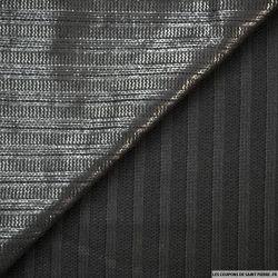 Maille coton noir irisé