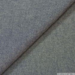 Chambray de coton bleu chiné