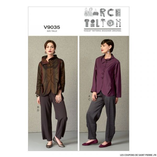 Patron Vogue V9035 : Veste et Pantalon