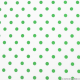 Coton imprimé pois ∅ 7 mm vert blanc cassé