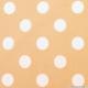 Coton imprimé pois ∅ 2,2 cm blanc fond sable