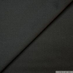 Gabardine de laine noir