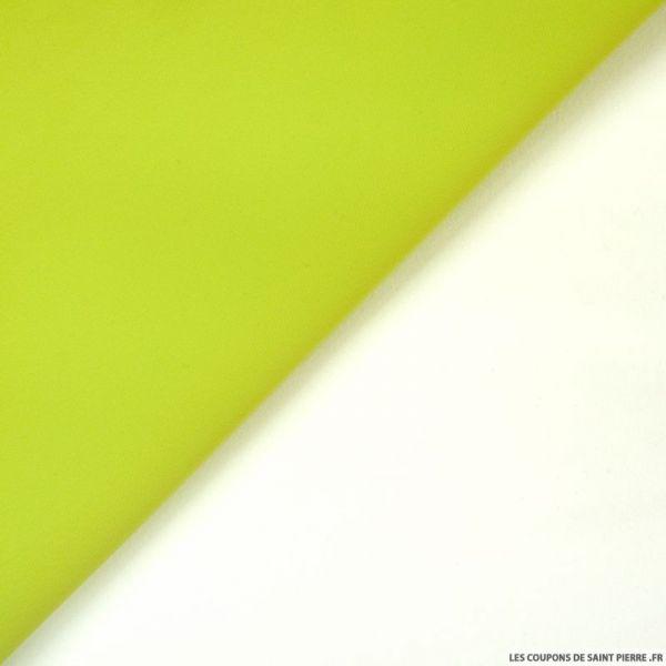 Crêpe lourd contrecollé vert fluo