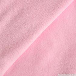 Tissu polaire rose clair