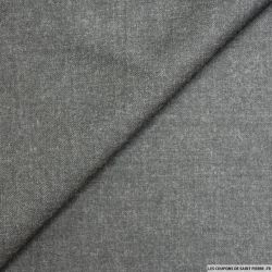 Tissu tailleur laine fin gris
