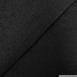 Tissu polaire noir