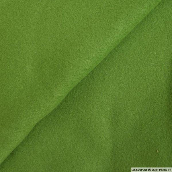 Tissu polaire vert amande