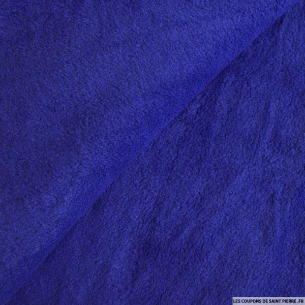 Tissu polaire bleu royale