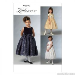 Patron Vogue V9072 : Robe fillette