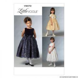 Patron Vogue V9072 : Robe fillette