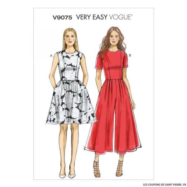Patron Vogue V9075 : Robe et combinaison