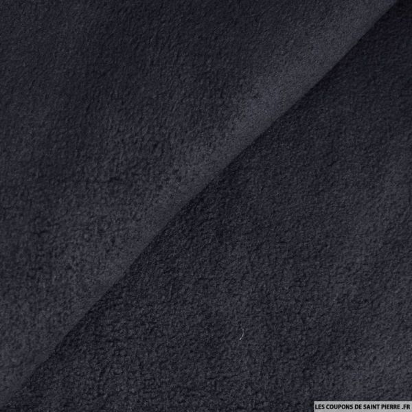Tissu polaire bleu marine