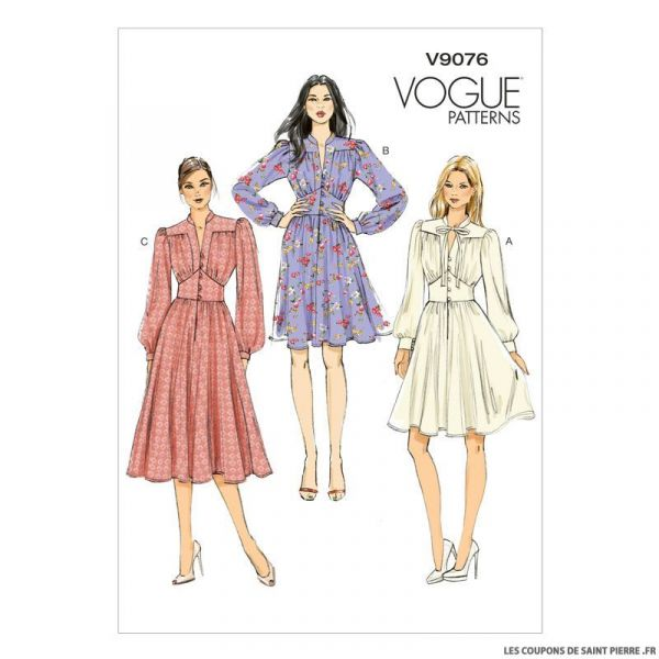 Patron Vogue V9076 : Robe