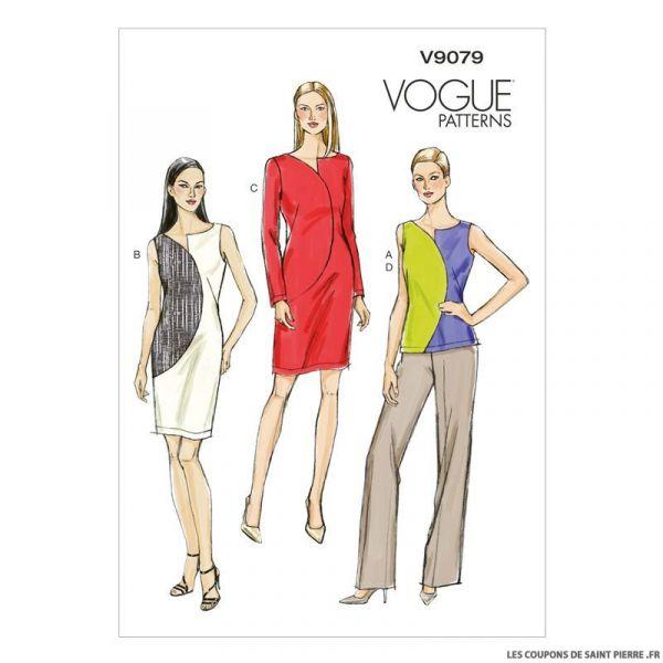 Patron Vogue V9079 : Haut, robe et pantalon
