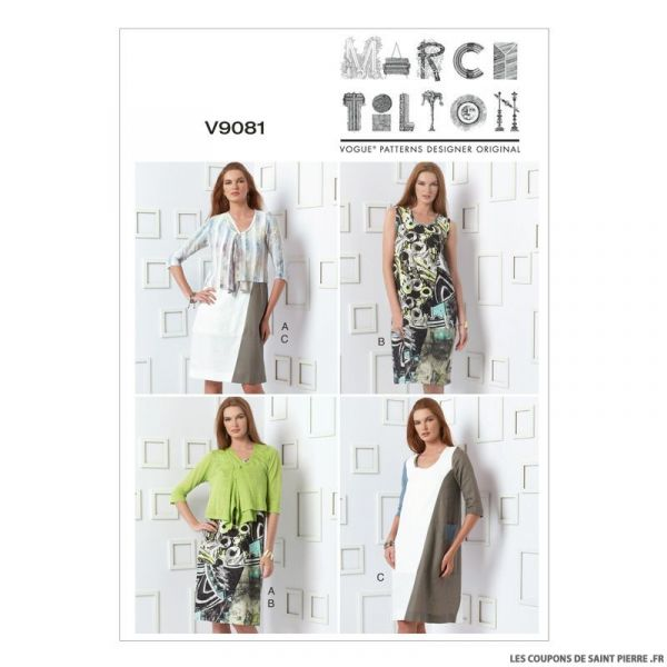 Patron Vogue V9081 : Cardigan et robe