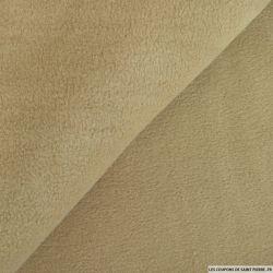 Tissu polaire beige
